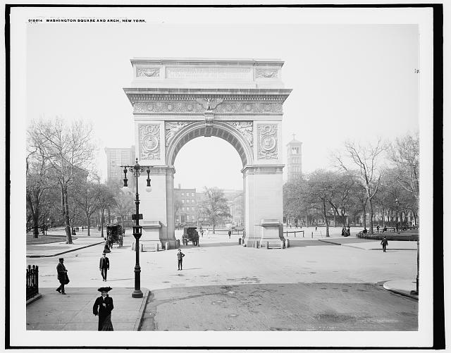 Washington Square and [Memorial] Arch, New York