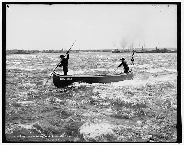 Shooting the rapids, Sault Ste. Marie, Mich.