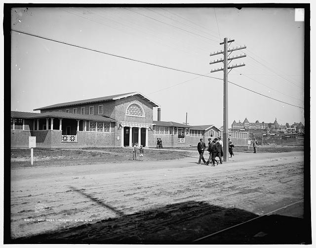 Bath house, Nantasket Beach, Mass.