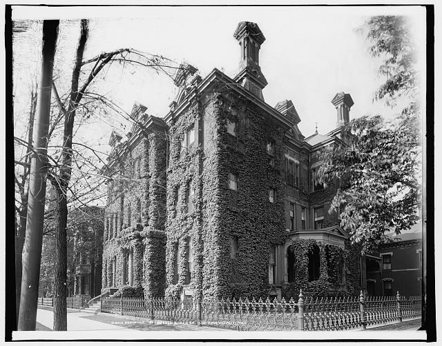 Residence of Russel [sic] A. Alger, side view, Detroit, Mich.