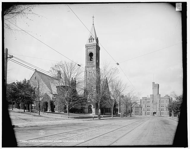 Central Church and Armory, Worcester, Mass.
