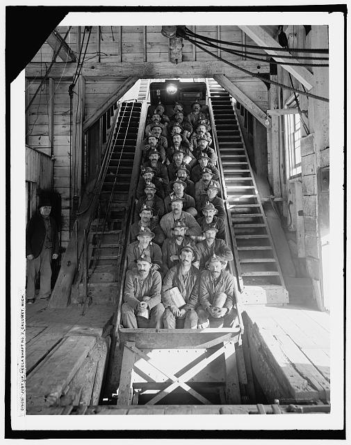 Just up, Hecla [i.e. Calumet and Hecla Mine] shaft No. 2, Calumet, Mich.
