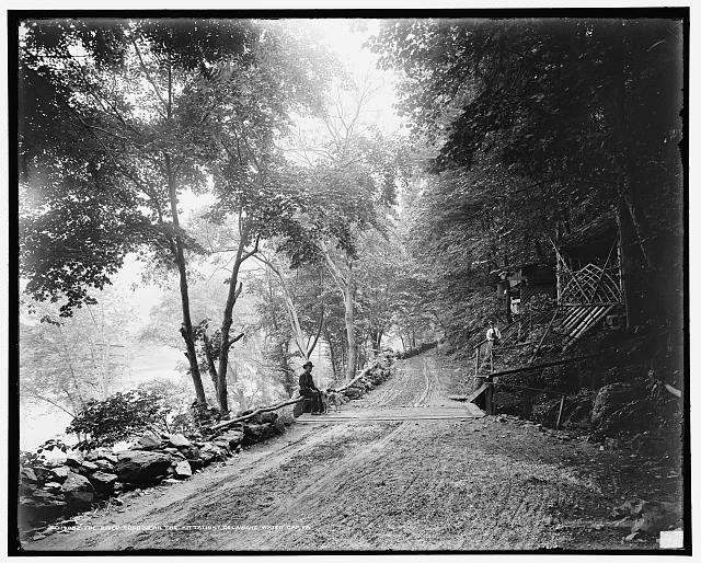 The River road near the Kittatinny [House], Delaware Water Gap, Pa.