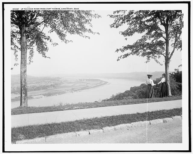 Up the Ohio River from Fort Thomas, Cincinnati, Ohio