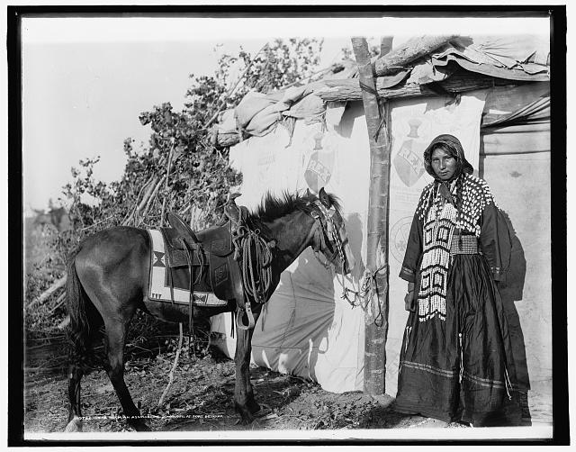 Irene Rock, an Assinaboine [sic] schoolgirl at Fort Belknap