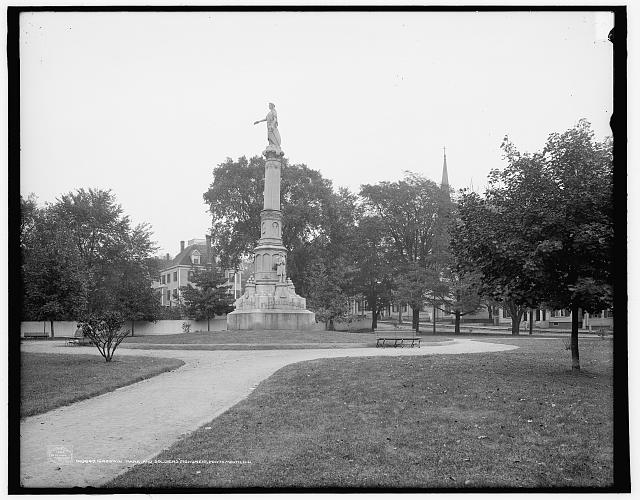 Goodwin Park and soldiers' monument, Portsmouth, N.H.