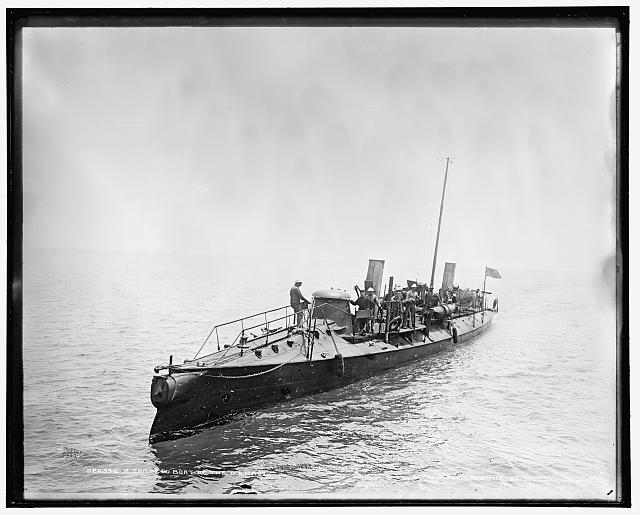 A torpedo boat of the U.S. Navy