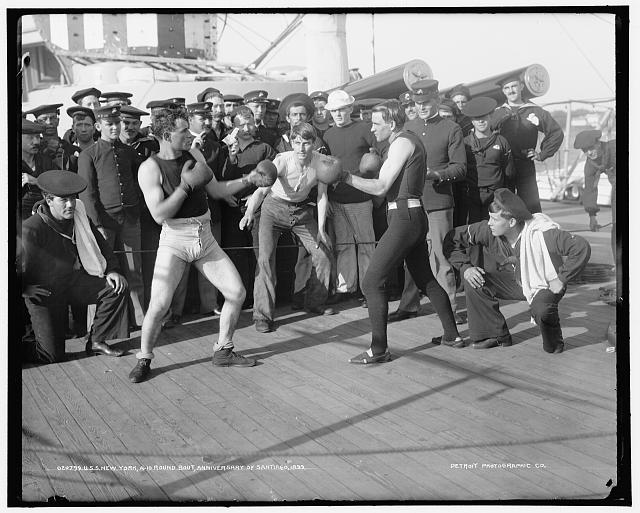 U.S.S. New York, a 10-round bout, anniversary of Santiago
