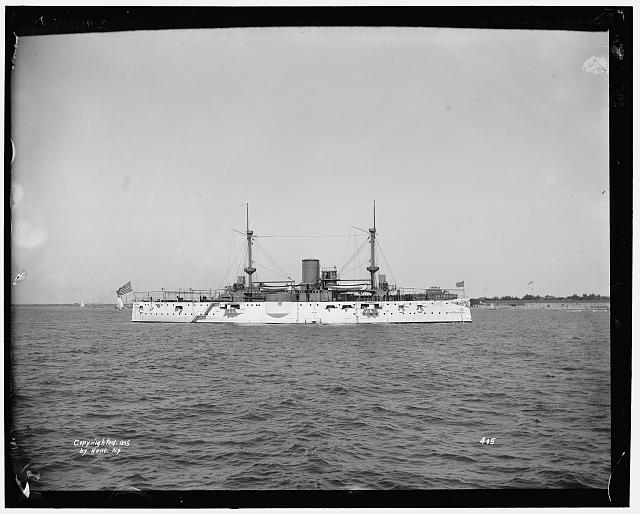 [U.S.S. Texas (armored battleship), broadside]