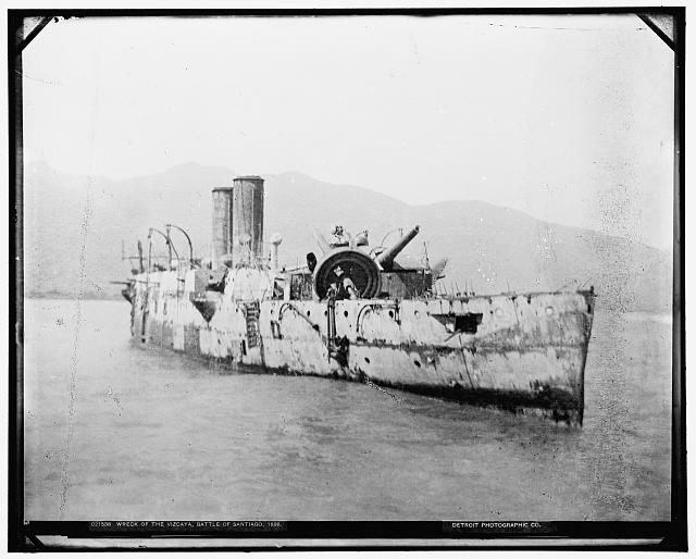Wreck of the Vizcaya, Battle of Santiago, 1898