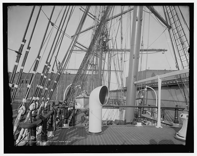 Clipper ship King George, deck view