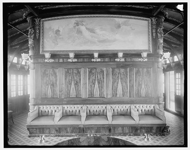 Decorations in convention hall, Str. City of Cleveland, [Detroit & Cleveland Navigation Co.]