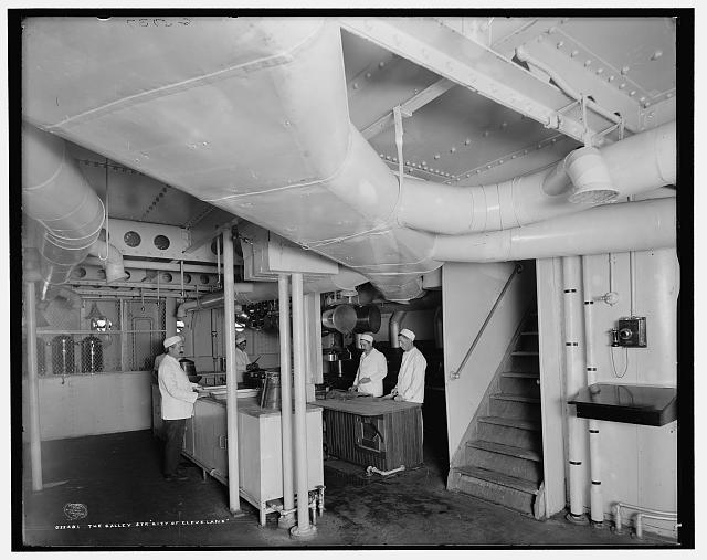 The Galley, Str. City of Cleveland, [Detroit & Cleveland Navigation Co.]