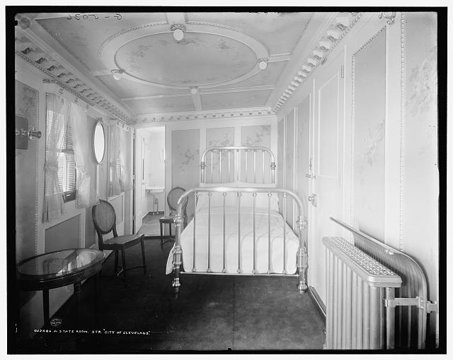 A State room, Str. City of Cleveland, [Detroit & Cleveland Navigation Co.]