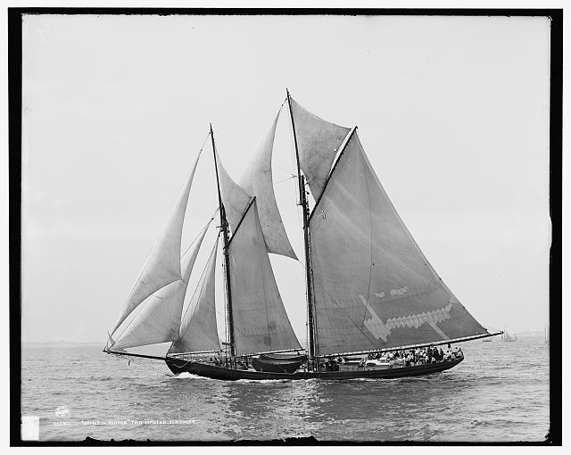 James W. Parker, two masted schooner