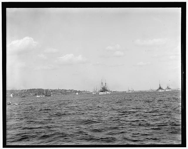 [North Atlantic squadron at Tompkinsville]