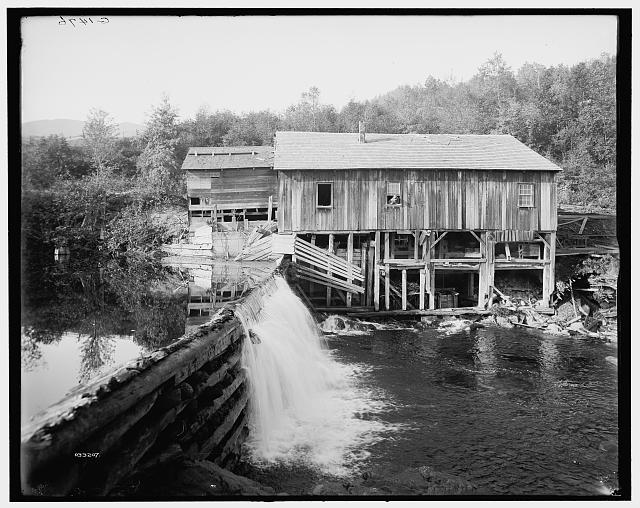 [Keene Valley, old mill on the Ausable, Adirondack Mts., N.Y.]