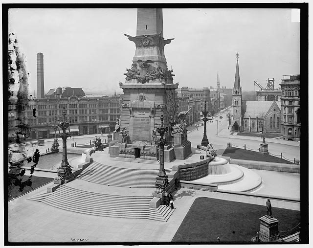 [Army & Navy (Soldiers' and Sailors') Monument, the base, Indianapolis, Ind.]