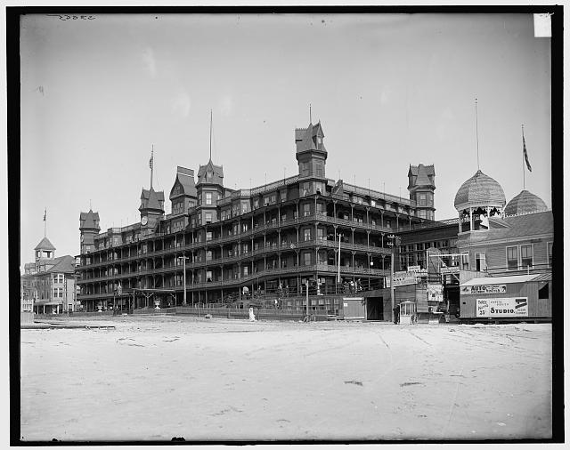 [Old Orchard, Me., Hotel Velvet from beach]