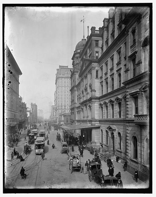 [New York City, Snap Shatow, 42nd Street, showing entrance to G[ran]d Central Station]