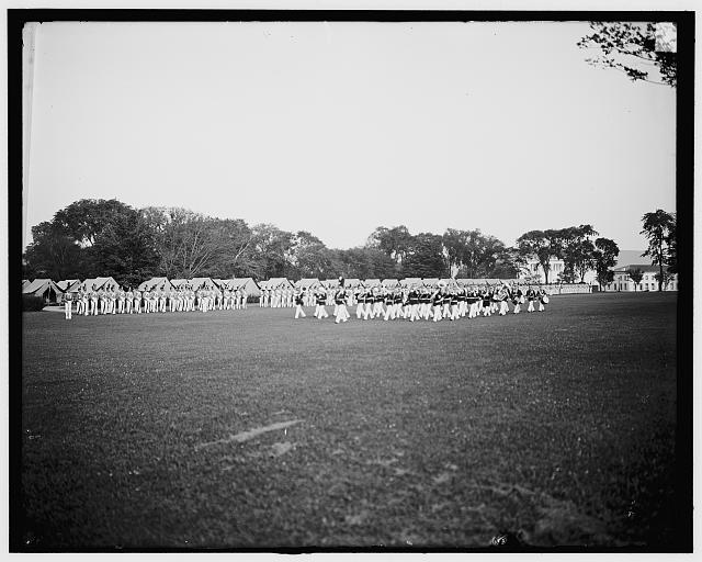 [Dress parade, band passing in review, West Point, N.Y.]