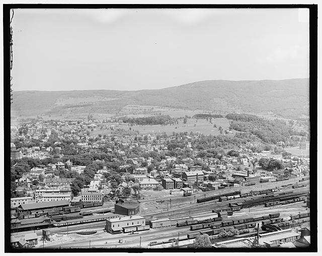[City and Hoosac Range from Whitt's Ledge, North Adams,Mass.]