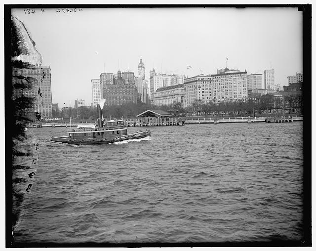 [Battery Park from the water, New York, N.Y.]