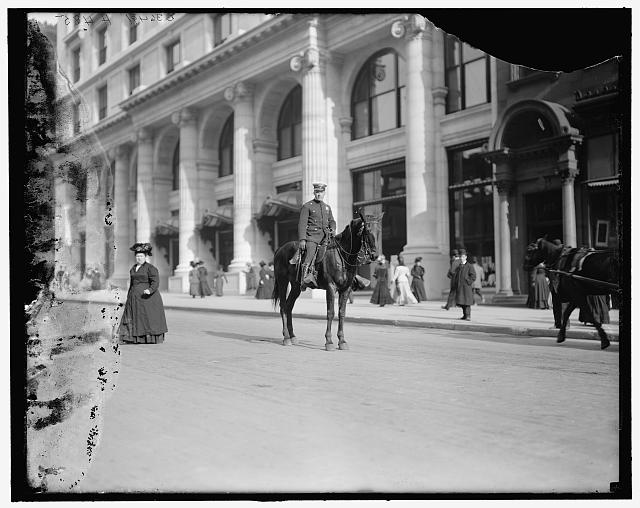 [Mounted policeman, New York, N.Y.]