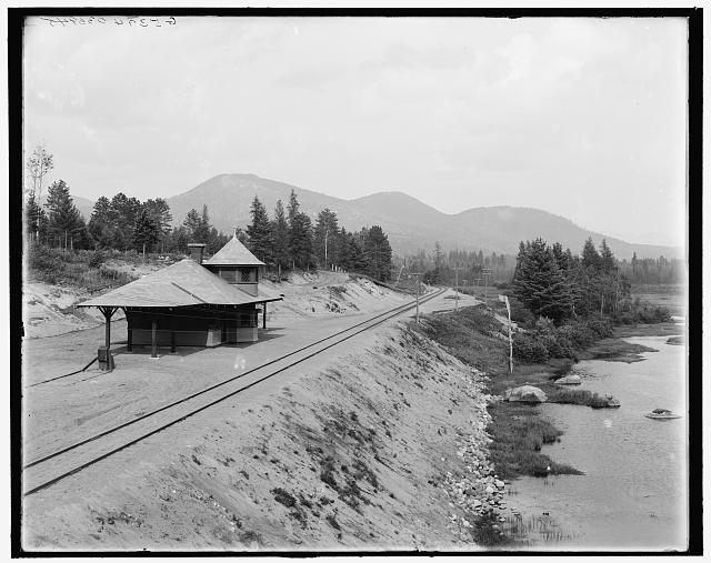 [Saranac Lake, Ray Brook station & McKenzie Mountain, Adirondacks, N.Y.]
