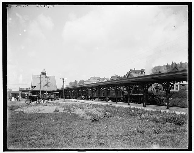 [Saranac Lake, central station, Adirondacks, N.Y.]