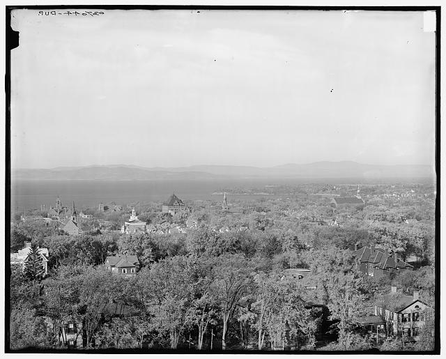[Lake Champlain from University of Vermont grounds, Burlington, Vt.]