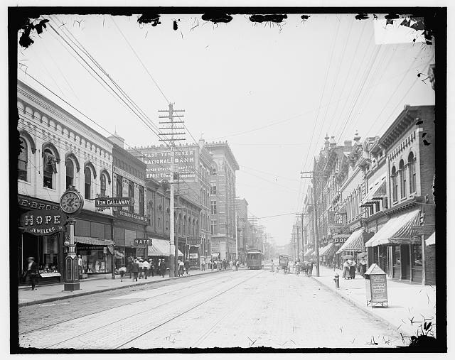 [Looking north on Gay Street from near Clinch Avenue, Knoxville, Tenn.]
