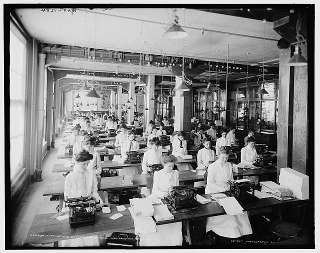 Typewriting department, National Cash Register, Dayton, O[hio]