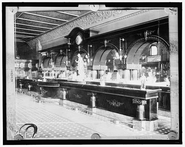 From the Library of Congress:  Fred Sehick Co. Bar, Minneapolis, Minn., Between 1895 and 1910. Touring Turn-of-the-Century America: Photographs from the Detroit Publishing Company, 1880-1920
