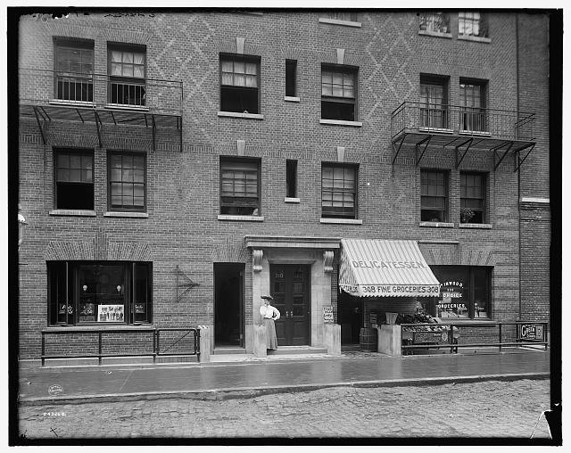 [Exterior of tenement house, New York City]