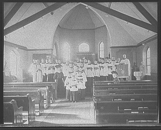 Vested choir, St. Mary's Mission, [Detroit, Mich.]