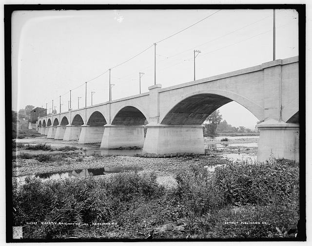 U. and M.V. [Utica & Mohawk Valley] railway bridge, Herkimer, N.Y.