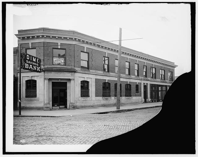 Dime Savings Bank, Russell [Street] and Gratiot Aves. [Avenue], Detroit, Mich.