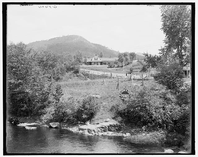 [Robt. Louis Stevenson's cottage on Saranac Lake, Adirondacks, N.Y.]
