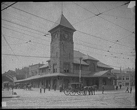 Boston and Maine R.R. [Railroad] station, Lowell, Mass.