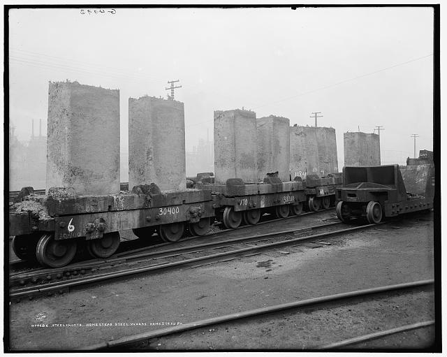 Steel ingots, Homestead Steel Works, Homestead, Pa.