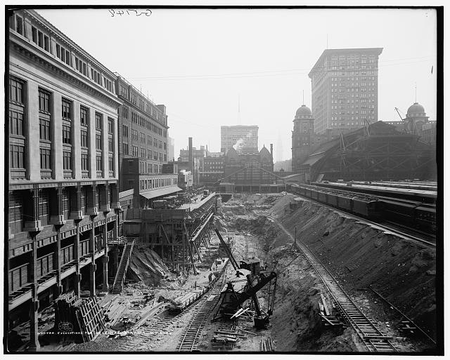 Excavations for N.Y. [Grand] Central Station, N.Y. City