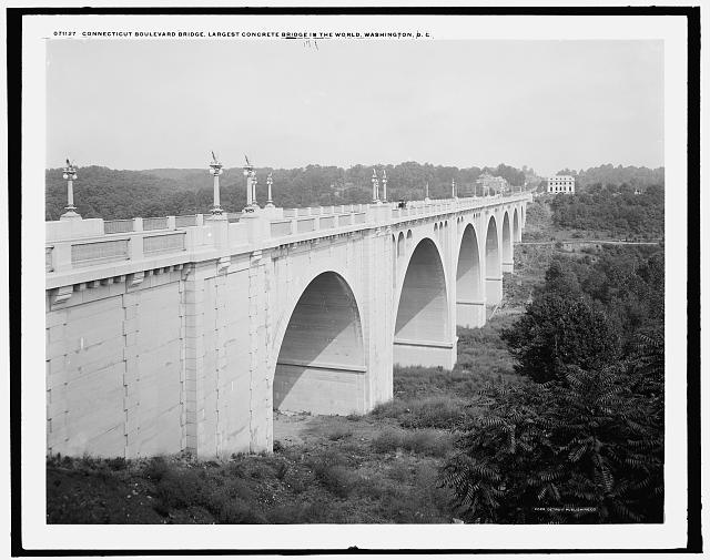 Connecticut Boulevard [i.e. Avenue] bridge, largest concrete bridge in the world, Washington, D.C.