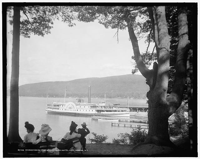 Steamer docks, Fort William Henry Hotel, Lake George, N.Y.