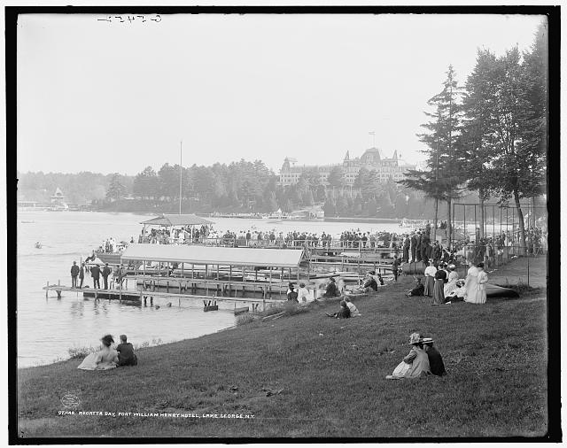 Regatta day, Fort William Henry Hotel, Lake George, N.Y.