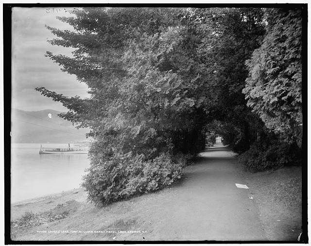 Lovers' lane, Fort William Henry Hotel, Lake George, N.Y.