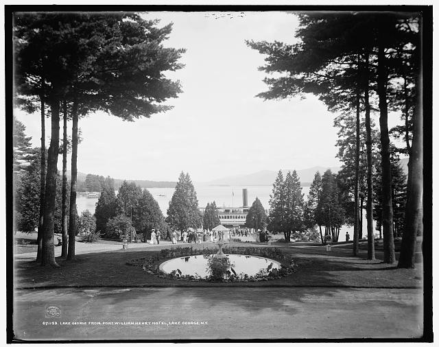 Lake George from Fort William Henry Hotel, Lake George, N.Y.