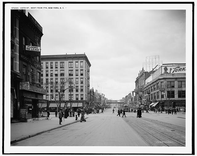 125th St., west from 7th [Seventh Avenue], New York, N.Y.