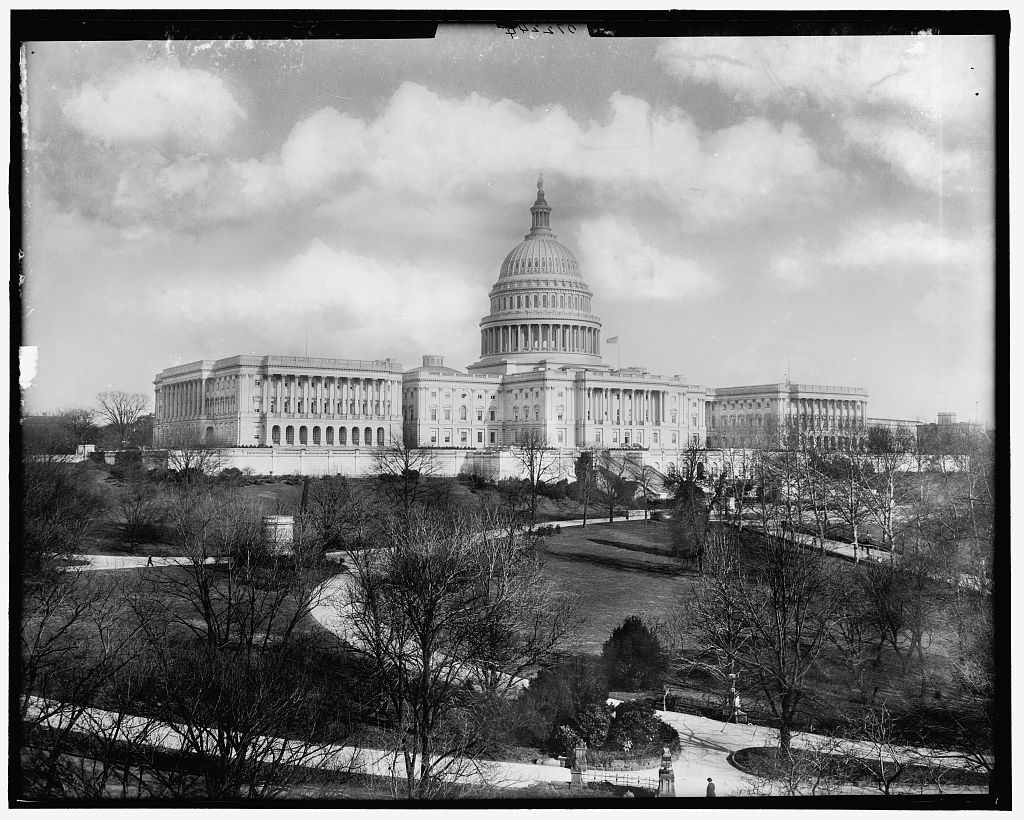 [West front, United States Capitol, Washington, D.C.], courtesy of Library of Congress Prints and Photographs Division