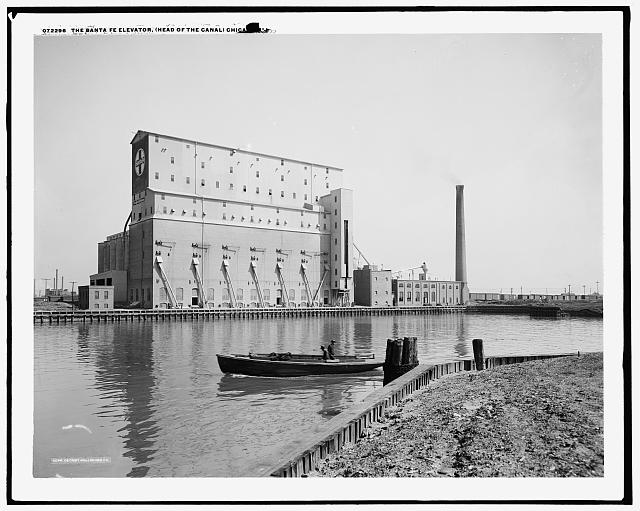 The Santa Fe elevator, head of the canal, Chicago, Ill..